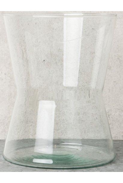 Vaas Diabolo recycled glass 20x25cm