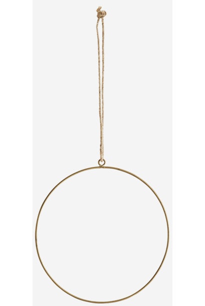 Hangdecoratie Wire ring  Ø20cm Gold
