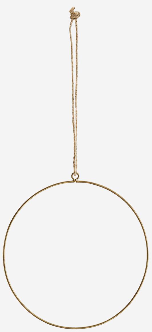 Hangdecoratie Wire ring  Ø20cm Gold-1