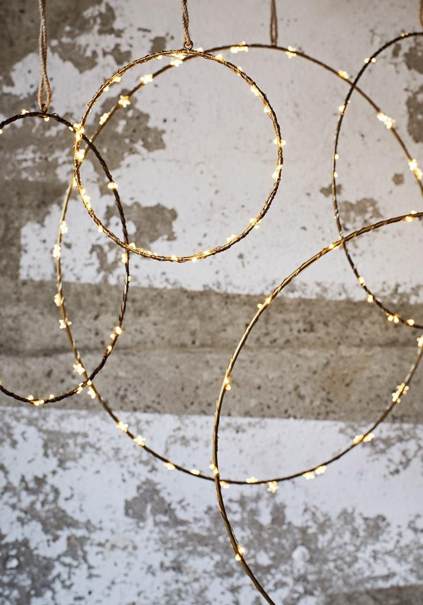 Hangdecoratie Wire ring  Ø20cm Gold-3