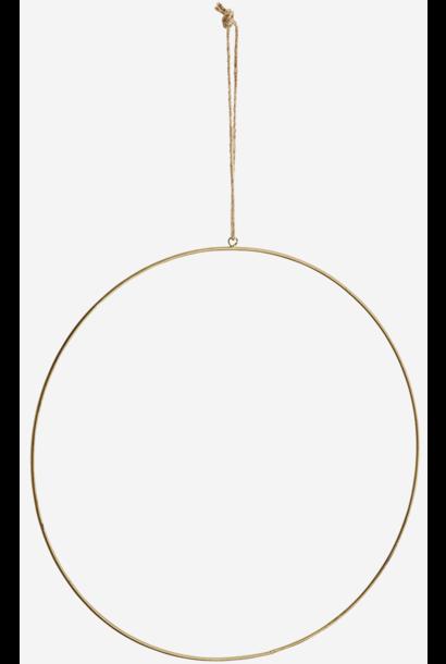Hangdecoratie Wire ring  Ø40cm Gold