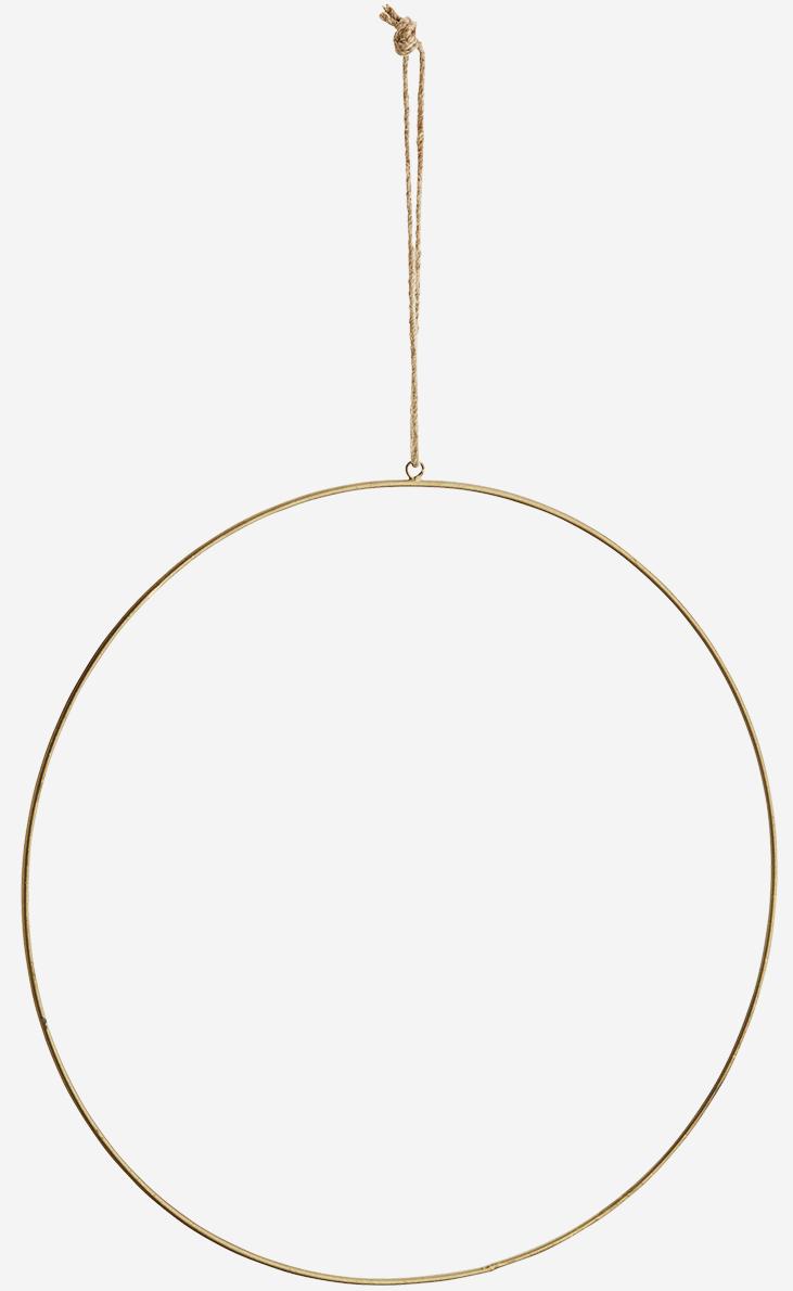 Hangdecoratie Wire ring  Ø40cm Gold-1