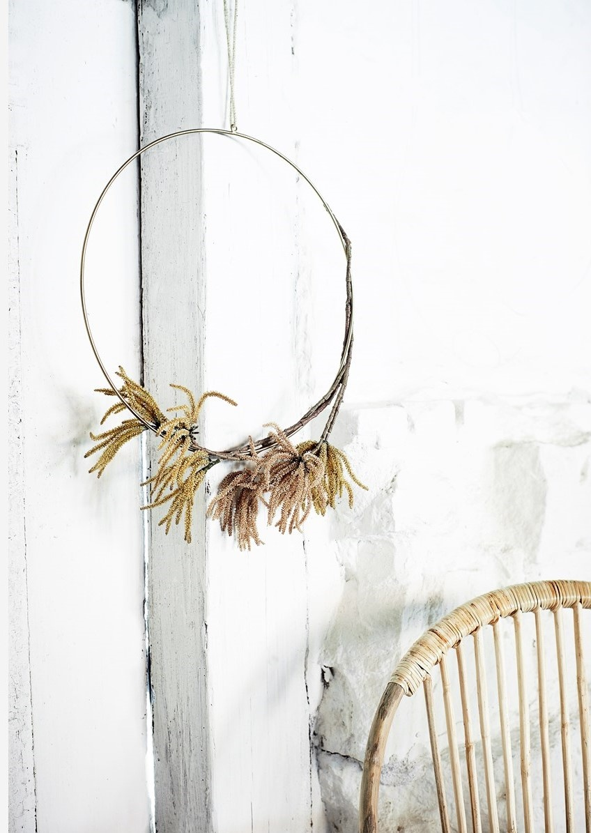 Hangdecoratie Wire ring  Ø40cm Gold-3
