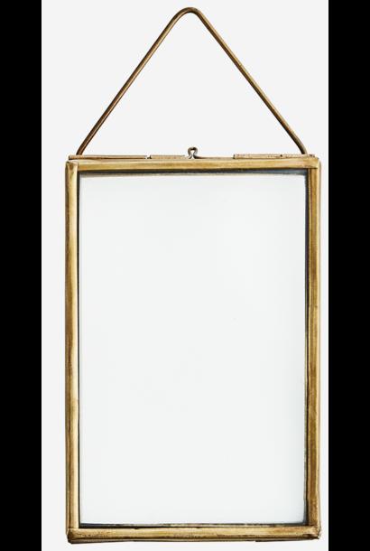 Fotolijst hang glass 10x15cm brass Gold