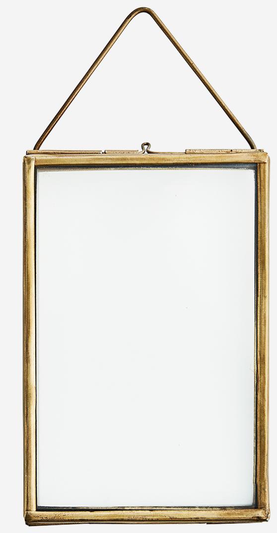 Fotolijst hang glass 10x15cm brass Gold-1
