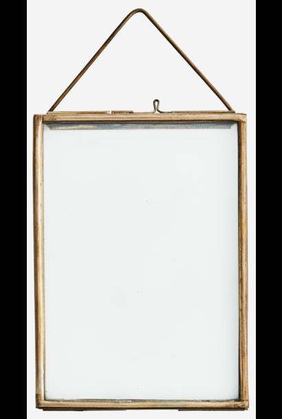 Fotolijst hang glass 13x8cm brass Gold