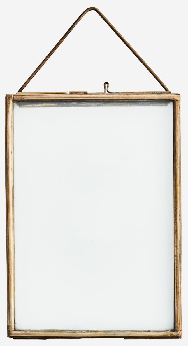 Fotolijst hang glass 13x8cm brass Gold-1