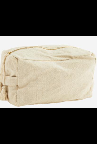Toilettas cotton tassels 25x15cm Ecru