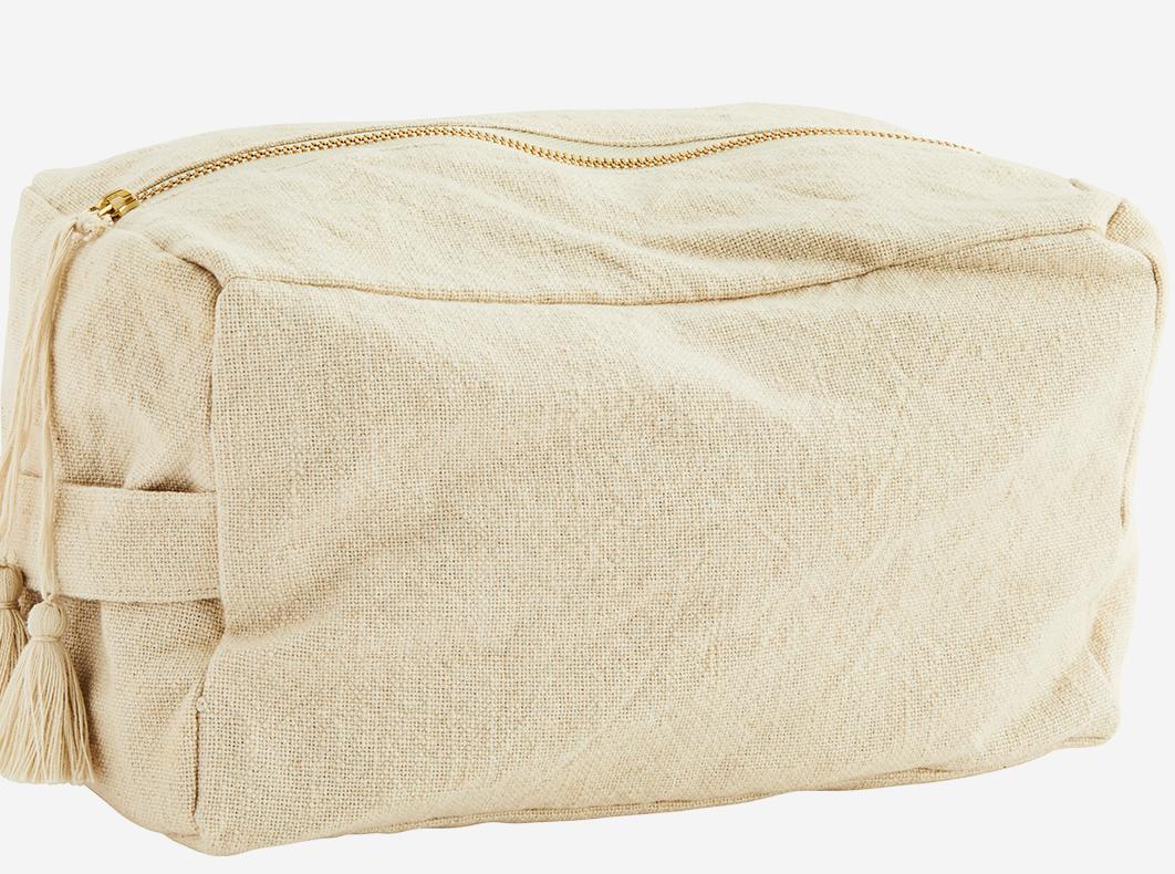 Toilettas cotton tassels 25x15cm Ecru-1