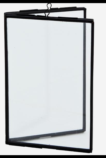 Fotolijst standing double 10x15cm Black