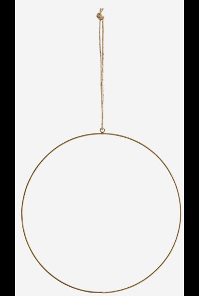 Hangdecoratie Wire ring  Ø30cm Gold