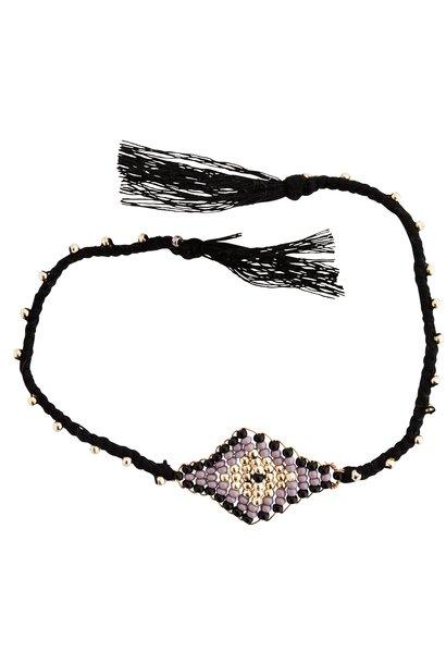 Armband beads and tassels 30cm Black