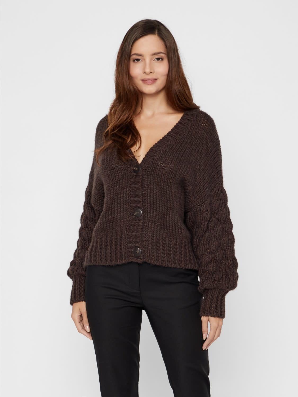 Vest Yastheresa hand knit Brown-3