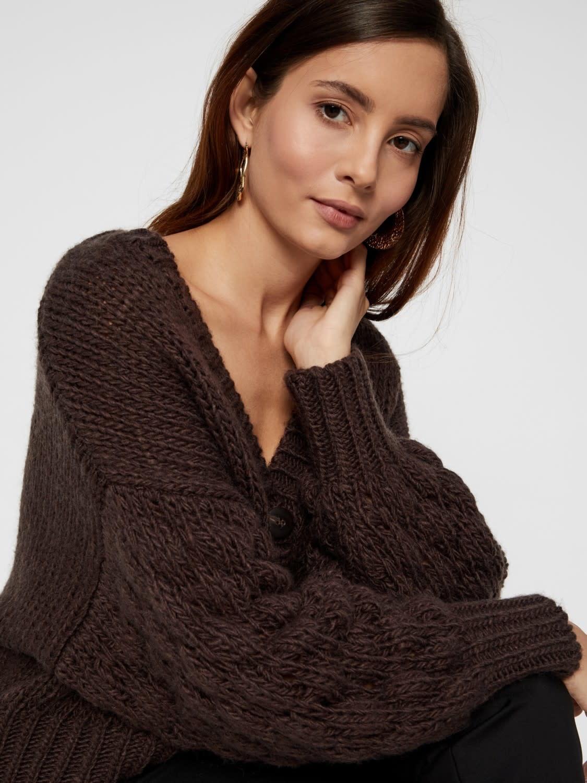 Vest Yastheresa hand knit Brown-2