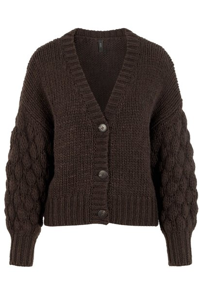 Vest Yastheresa hand knit Brown