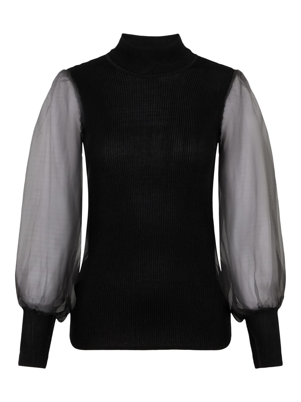 Trui Yasmelanie Knit Black-1