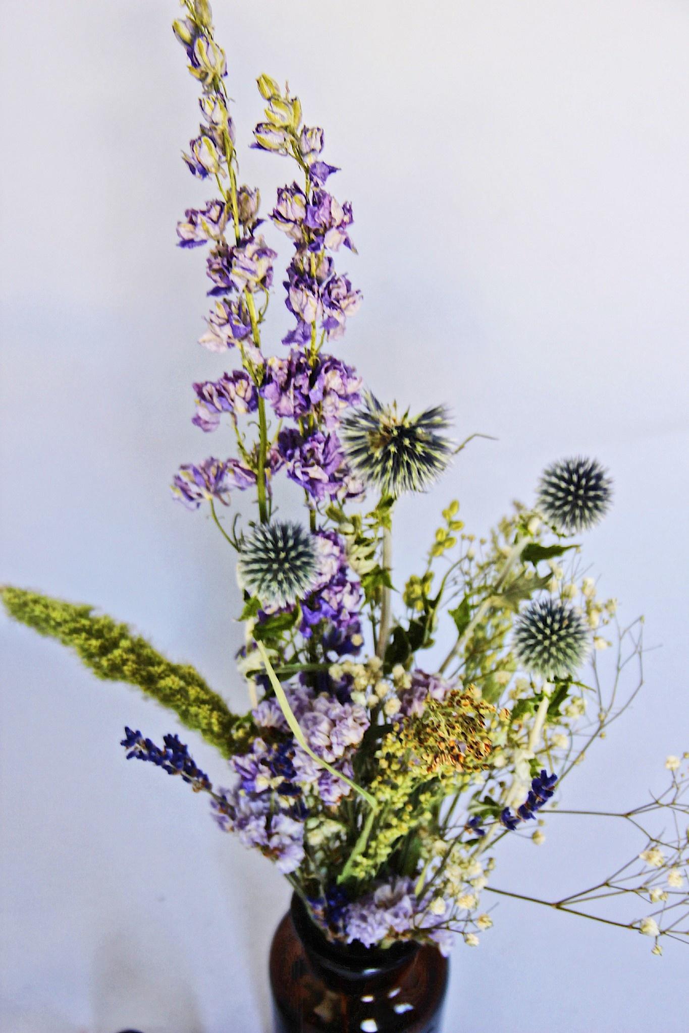 Droogboeket met vaas 250ml Lavendel-3