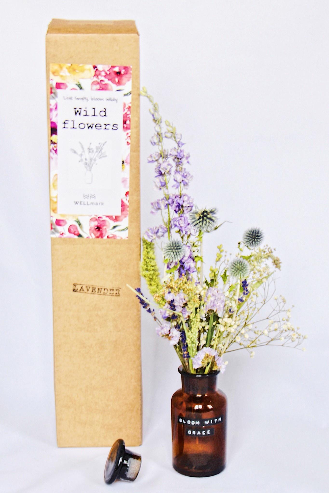 Droogboeket met vaas 250ml Lavendel-1