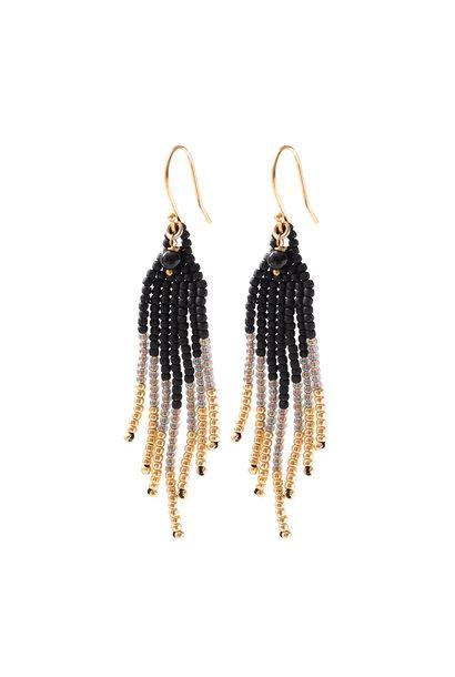 Oorbel Favorite Black Onyx Gold