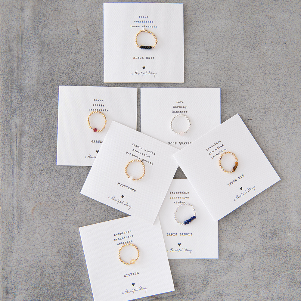 Ring Beauty onyx Gold M/L Black-4