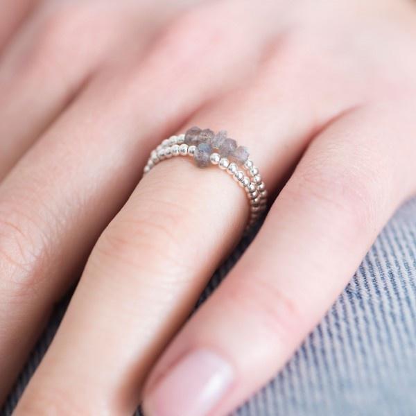 Ring Beauty Labradorite M/L Silver-2