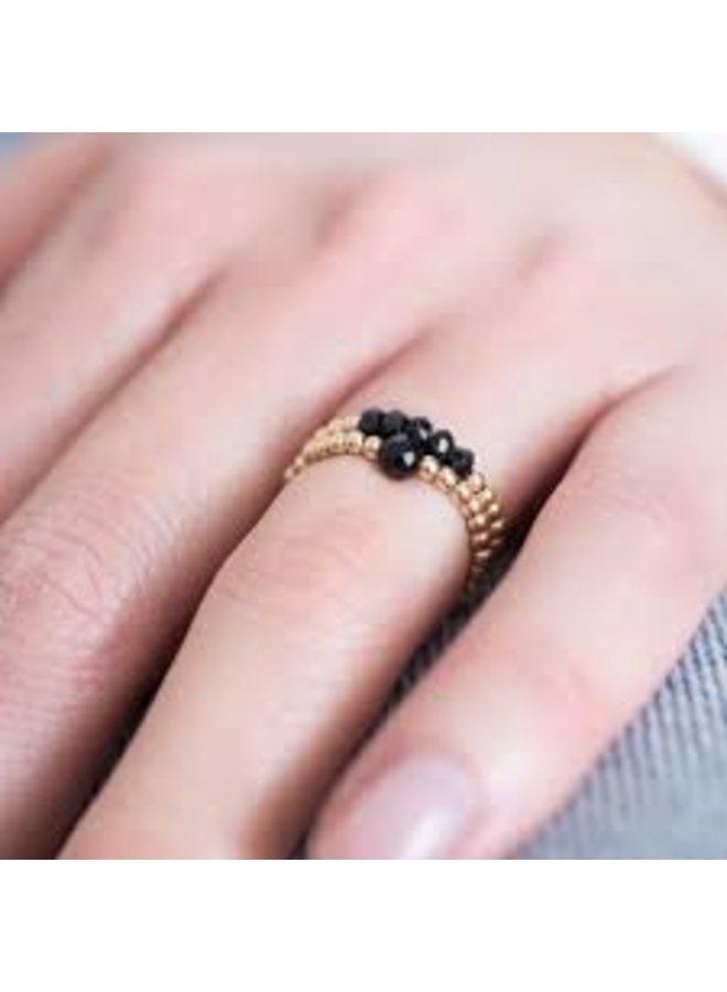 Ring sparkle tiger eye