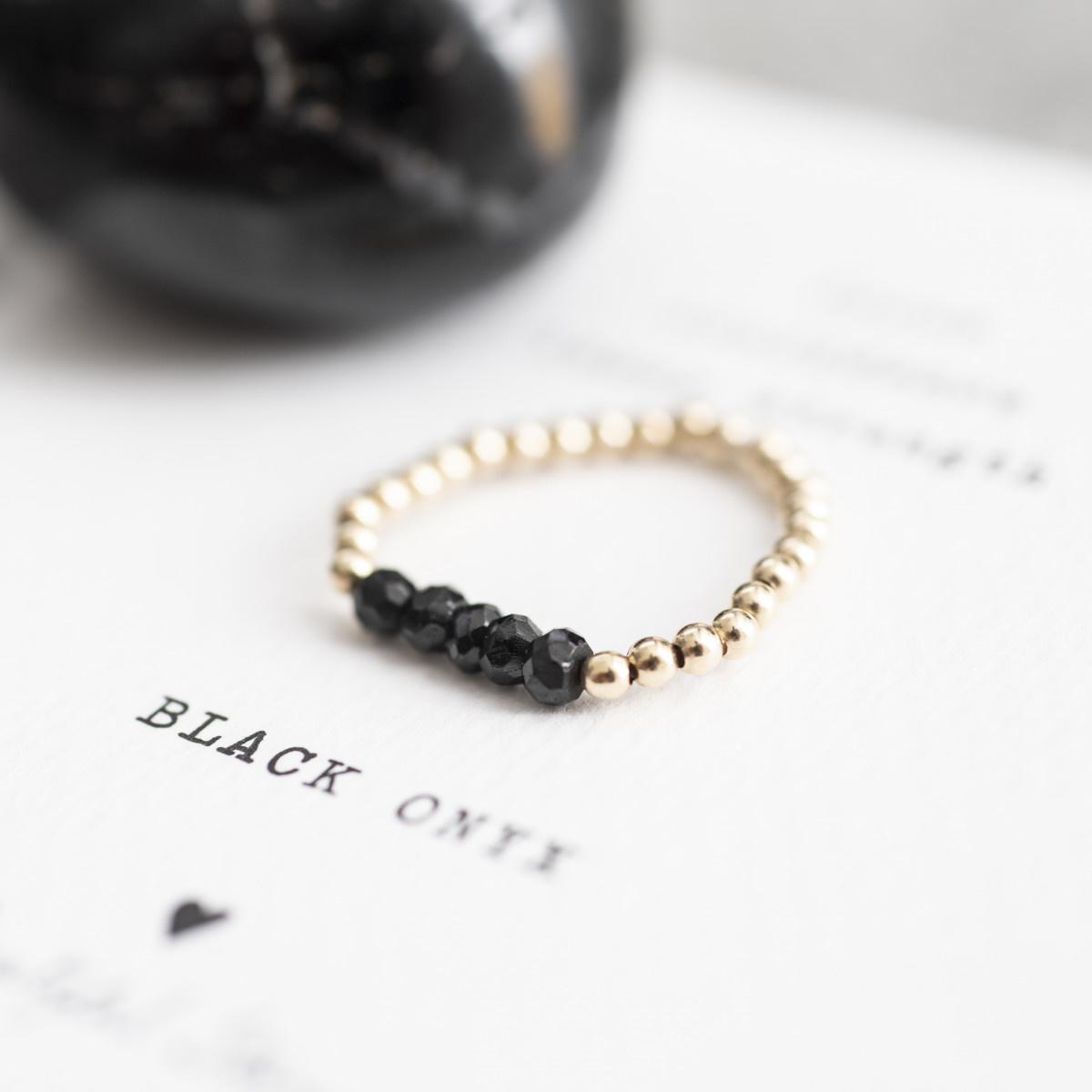 Ring Beauty onyx Gold M/L Black-3