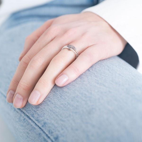 Ring sparkle labradorite M/L Silver-2