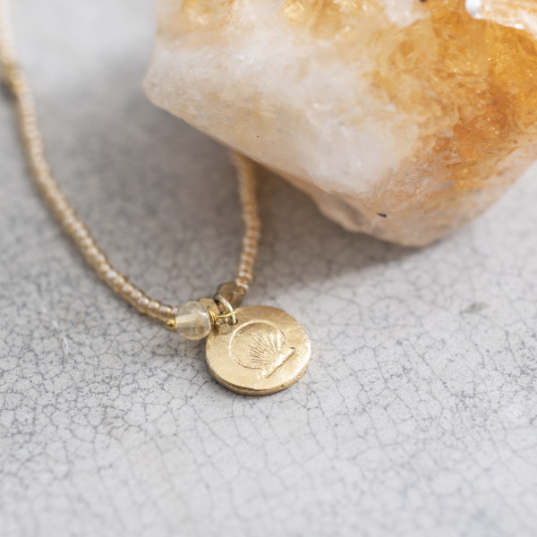 Ketting Truly Citrine Shell Gold-2