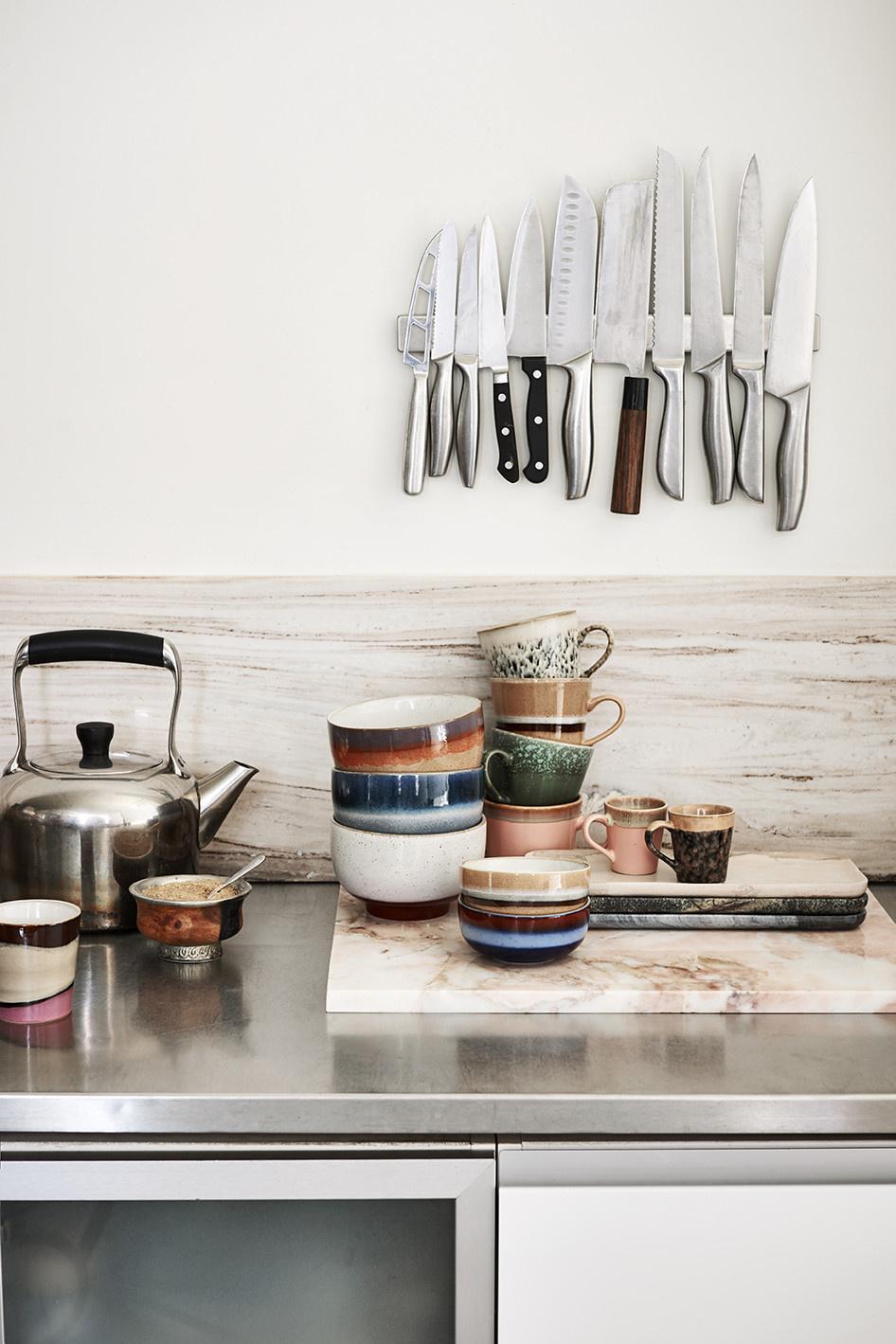 Mok ceramic 70's Cappuccino Multi set of 4-2