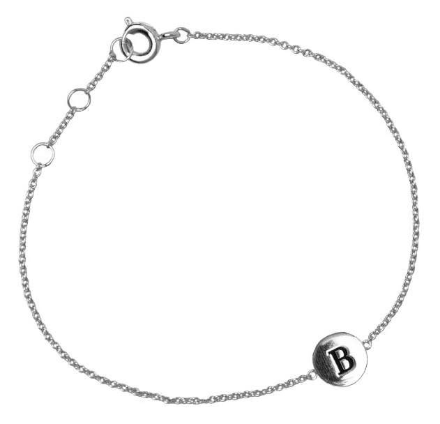 Armband Character Letter B Silver-2