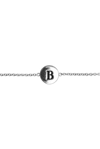 Armband Character Letter B Silver