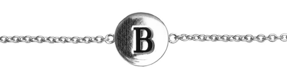 Armband Character Letter B Silver-1