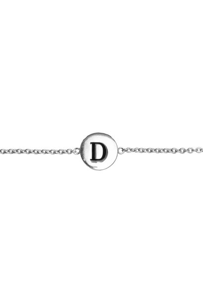 Armband Character Letter D Silver