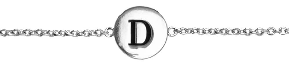 Armband Character Letter D Silver-1