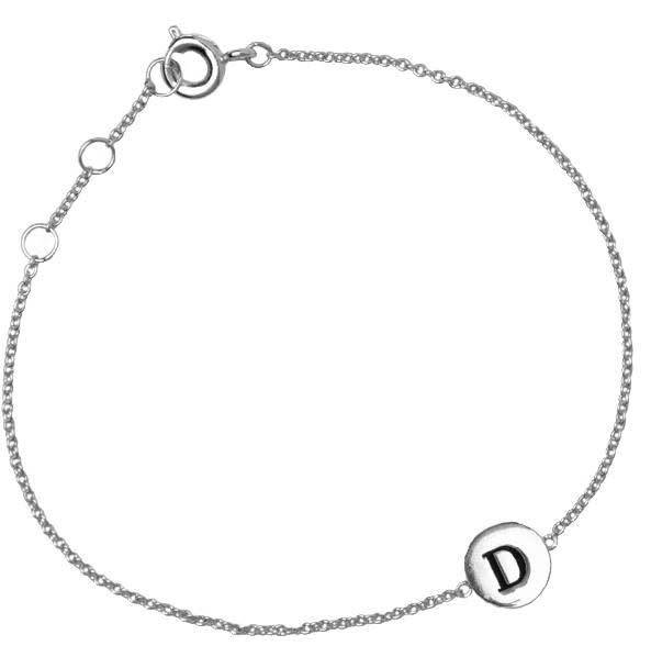 Armband Character Letter D Silver-2