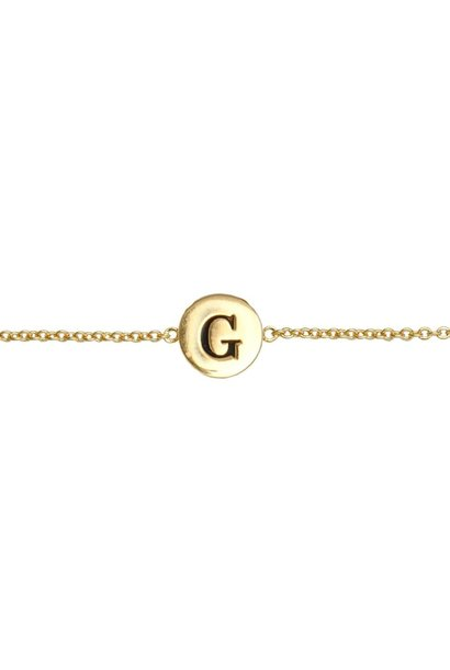 Armband Character Letter G Gold
