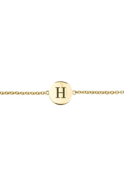 Armband Character Letter H Gold