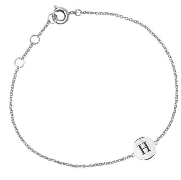 Armband Character Letter H Silver-2