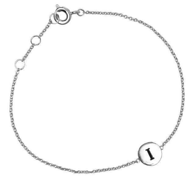 Armband Character Letter I Silver-2
