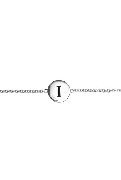 Armband Character Letter I Silver