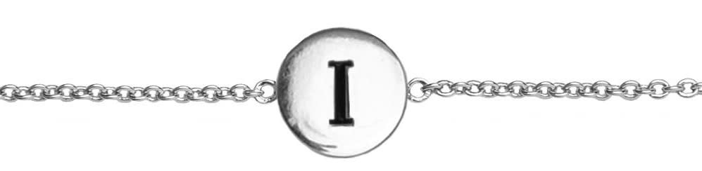 Armband Character Letter I Silver-1