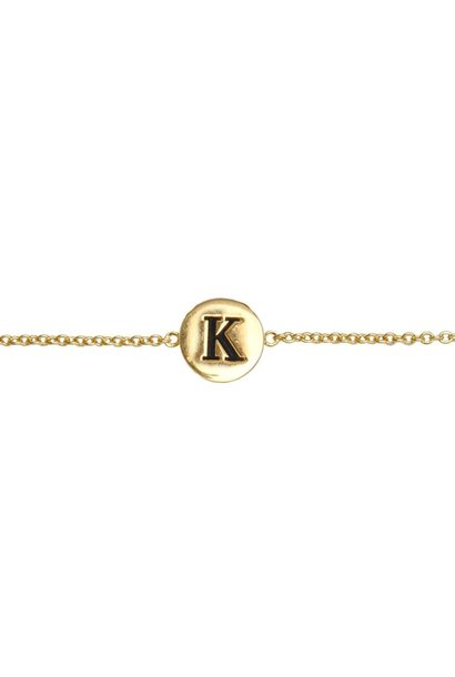 Armband Character Letter K Gold