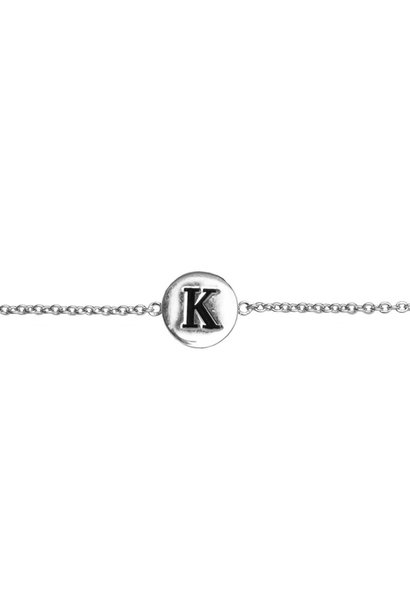 Armband Character Letter K Silver