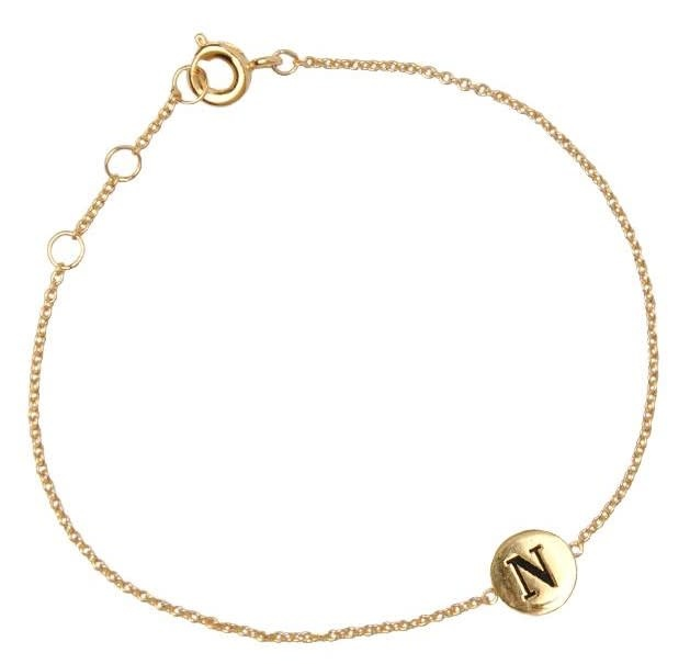 Armband Character Letter N Gold-2