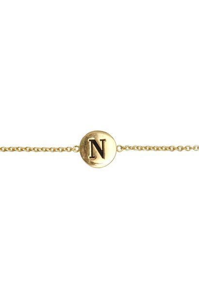 Armband Character Letter N Gold