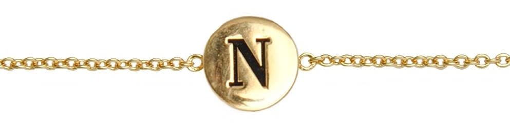 Armband Character Letter N Gold-1