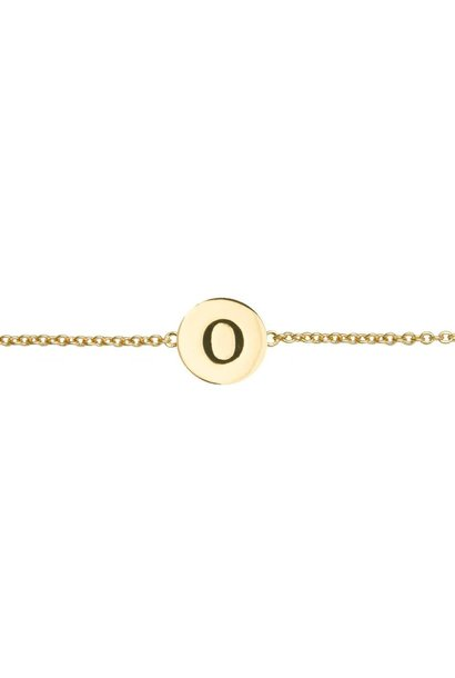 Armband Character Letter O Gold