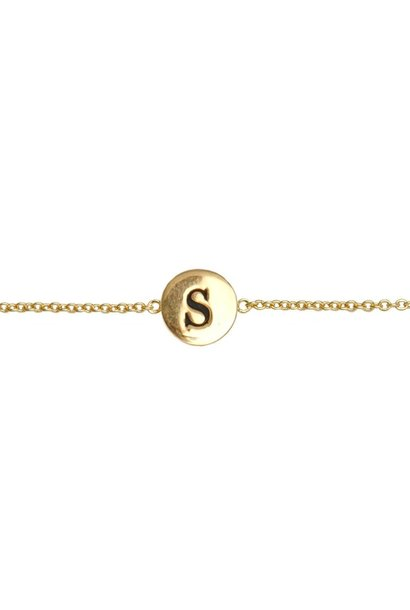 Armband Character Letter S Gold