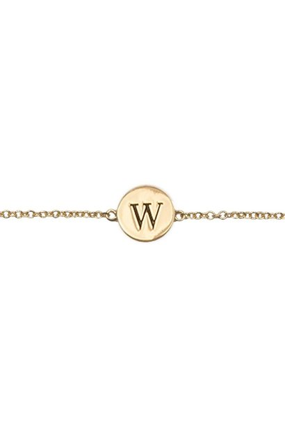 Armband Character Letter W Gold